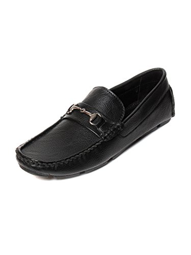 Bacca Bucci Men Black PU Loafers