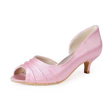 5 Uk4 Heels Us6 Boda 7 Wuyulunbi US6 Mujer UK4 Zapatos 5 CN36 Ue37 Rosa Peep Casual UE36 Toe Cn37 5 Rosa dXvzOvqx