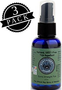 Nantucket Spider Tick Repellent Spray, Insect Protection Spray; Extra Strength Tick (2 oz Travel Size Bottle, 3-Pack) Made From Essential Oils, Deet Free, Soy Free, Vegan, Non-Greasy, Non-Sticky