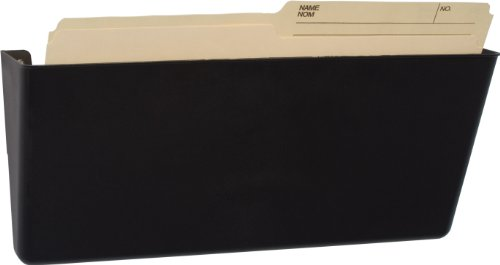 Storex Magnetic Legal Sized Wall Pocket, 16.25 x 4 x 7  Inches, Black, Recycled Plastic, 70226U01C by Storex (Image #5)