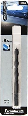 Piranha HSS Metallbohrer (8,5 mm Bohrdurchmesser, 117 mm Gesamtlänge, 118° Spitzwinkel) 1 Stück, X50090