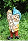 Wonderland Gnome 41.5cm holding Welcome Sign for Home or garden or balcony or kids room decor, dwarf, garden decoration, home decoration, gifting