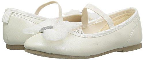 carter's Girls' Madalyn Ballet Flat, Ivory, 5 M US Toddler - Image 6