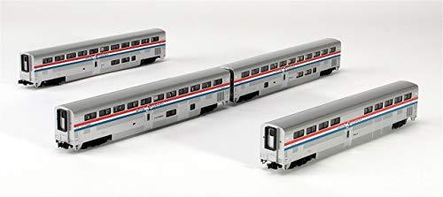 Kato USA Model Train Products Amtrak Superliner Phase III Car Set B, 4-Piece