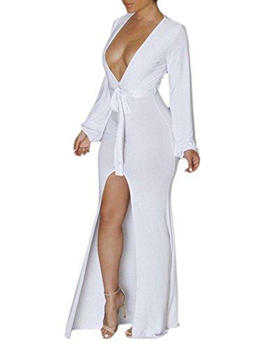 V-Neck Kimono Dress - 6