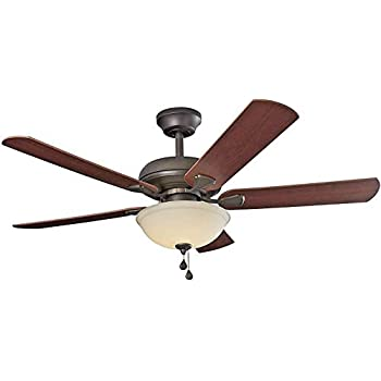 Hunter 28701 Fremont 52 Inch 5 Blade Single Light Ceiling Fan Brushed Nickel With Roasted