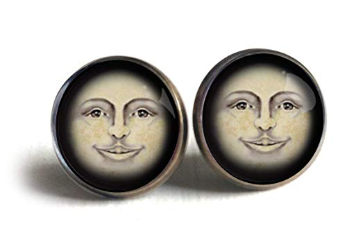 Man in the Moon Stud Earrings -