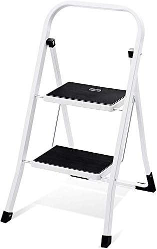 HOUSE DAY Escalera de Peldaño Plegable de 2 Peldaños Certificado GS 150 kg para Cocinas, Casa, Exteriores, Adultos: Amazon.es: Bricolaje y herramientas