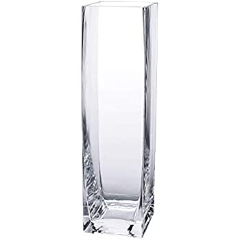 Diamond Star Tall Square Vase Home Decorative Flower Glass Vase Wedding Party Table Centerpieces(3