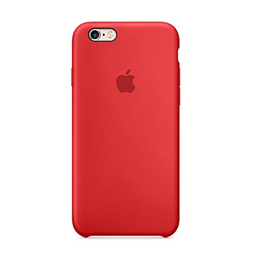 (Dawsofl Soft Liquid Silicone Case Cover for Apple iPhone 6/6s (4.7inch) Boxed- Retail Packaging (Red-1))