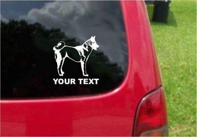- Set (2 PCS) Akita Dog Decals with Custom Text 20 Colors to Choose from (5