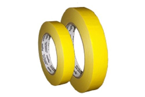 PEGAFAN AUTOMOTIVE PERFORMANCE VALUE PACK (5 ROLLS) Refinish YELLOW Masking Tape 3/4'' x 55yd. 200 F Performance Temperature, 28 lbsin Tensile Strength. #1 Voted in specialized painting Workshops. by PEGAFAN (Image #4)