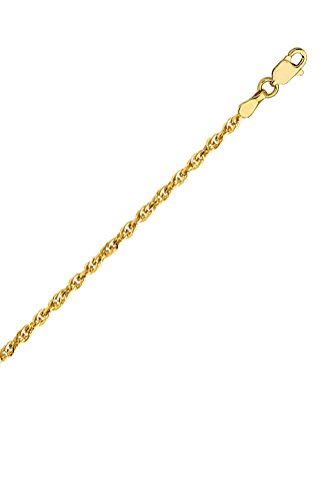 14k Yellow Gold Double Rope - 14k Yellow Gold Double Rope Chain Necklace 1.8mm 030 Gauge