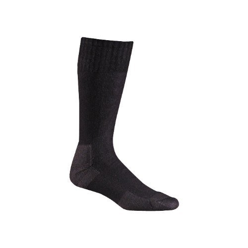 Fox River Adult Military Stryker Wick Dry Mid-Calf Boot Socks, Black, Large