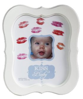 Kiss the Baby Autograph / Photo Frame for Boys by Baby Gift Idea   B00LXF87NI