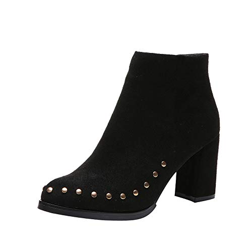 Clearance Sale Women's Winter Boot Flat to Non-Slip Pointed Toe Short Tube Scrub Martin Boots HunYUN