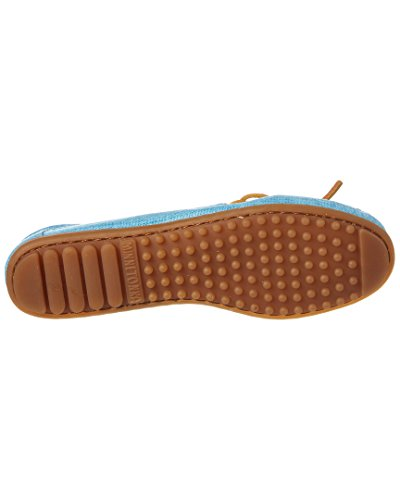 Minnetonka Dames Canvas Moccasin Turquoise Canvas