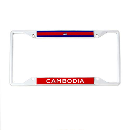 (Desert Cactus Country of Cambodia Flag License Plate Frame for Front Back of Car Vehicle Truck Cambodian)