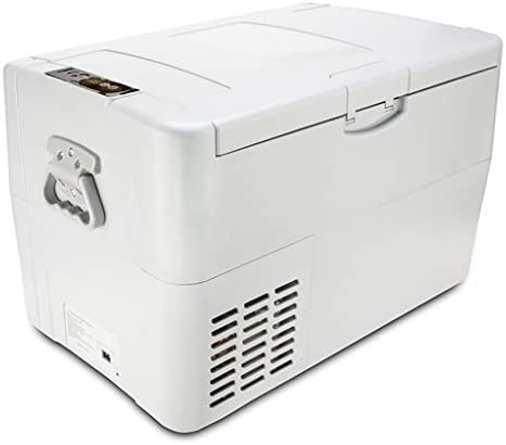 DIOE 車載冷蔵庫 -18℃~10℃ 急速冷凍, 冷蔵冷凍庫 12V ポータブル冷蔵庫, 48W, 30L, 白
