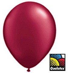 Qualatex Burgundy Radiant Pearl Latex Balloons, 11-Inch 100 Per Pack