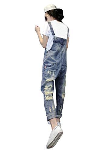 Suelto De Pantalones Mujeres Las Mezclilla Roto Mono Zanahoria Babero Peto Colour Primavera Casuales Vendimia Vaqueros La Otoño Uwf4wFqB