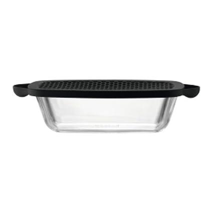 Bodum Hot Pot 11326 – 01 bandeja para horno con tapa de silicona negro 0,