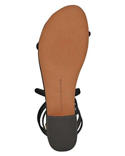 Avec Les Filles Womens Caila Open Toe Beach Ankle Strap Sandals Black CqAEM