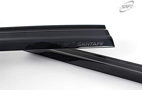 Safe Smoke Window Visor Sun Rain Vent Guard 4 Pcs Set for 2019 Hyundai Santa Fe Sports Out Channel Visor