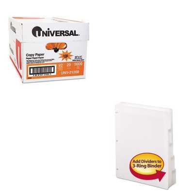 KITSMD89415UNV21200 - Value Kit - Smead Three-Ring Binder Index Divider (SMD89415) and Universal Copy Paper (UNV21200)