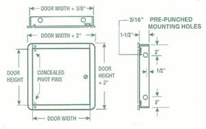 Acudor ED-2002 Flush Access Door 6'' x 6'', White