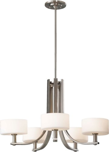 Sea Gull Lighting F2405/5BS Sunset Drive Five Light Chandelier, Brushed Steel ()