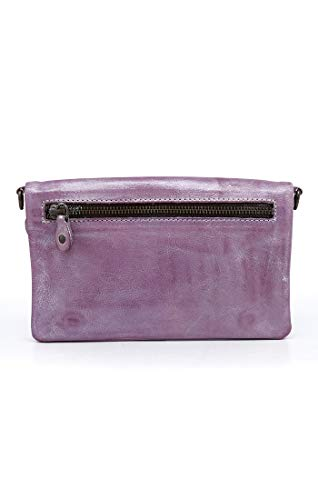 Bed|Stu Women's Cadence Leather Wallet, Crossbody or Clutch (Lilac Rustic Silver Metallic) by Bed|Stu (Image #1)