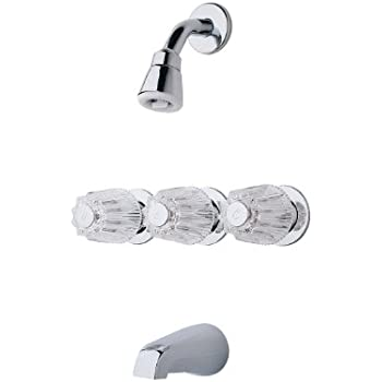 price pfister 3 handle tub shower faucet. Pfister G01 3120 3 Handle Tub  Shower Faucet with Metal Knob Handles
