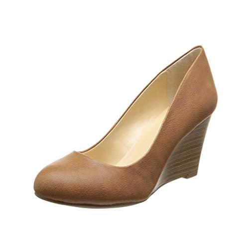 Talon Bout Chaussures Chaussures Élégant Day Portant Des Long Ronde Fermé Brown Habillées Femmes Simples Compensé Tête Confortable Chaussures wqUYfxxp