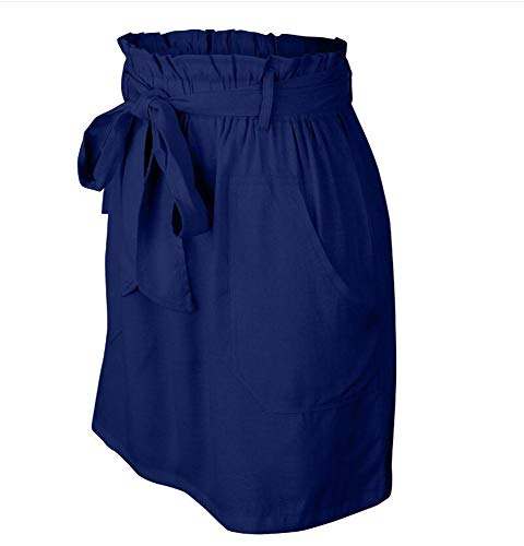 Femmes Bleu Ligne Domorebest Jupe Casual Mini A Bandage 1xwSqdUv