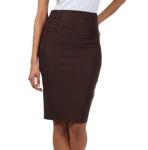 Petite High Waist Stretch Pencil Skirt with Shirred Waist Detail small (Nylon Petite Skirt)
