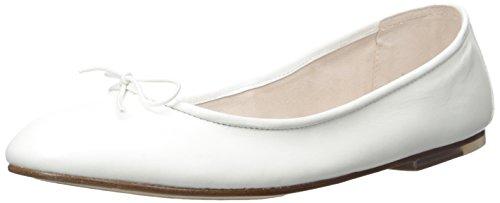 Bloch London Womens Women's Fonteyn Ballet Flat, White, 40.5 EU/10.5 M US