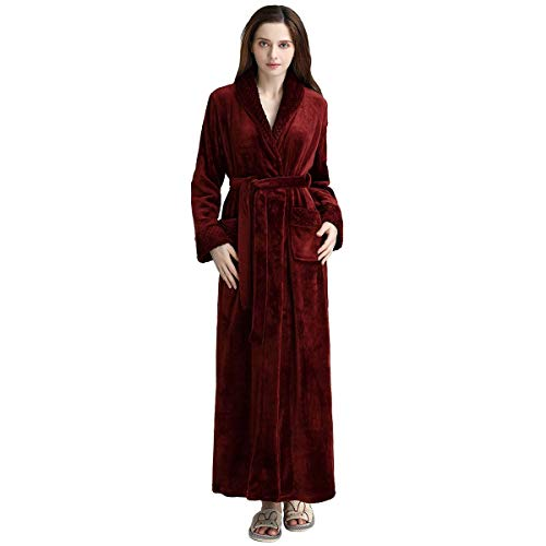 Popcorn Costumes Ideas - Long Bath Robe for Womens Plush