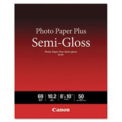 Plus Semi Gloss 50 Sheets - Photo Paper Plus Semi-Gloss, 69 Lbs., 8 X 10, 50 Sheets/pack By: Canon