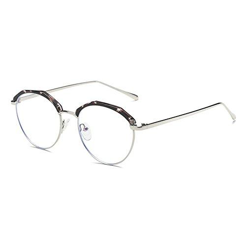 d0f42bb668 Hombres de las mujeres gafas redondas - marco de metal anti azul claro  claro lentes gafas de marco para computadora / juego de PC / TV / teléfono  celular de ...
