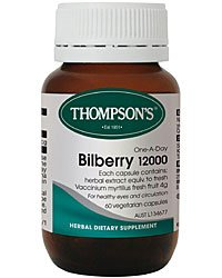 Thompsons ビルベリー(ブルーベリー) 12000mg 60カプセル(60日分)[並行輸入品][海外直送品 B00T5O07T6