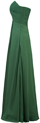Dresses Chiffon Long Dark Women's Bridesmaid ANTS Green Evening Gowns qz6atWSW