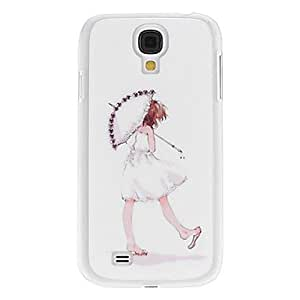 HP DFGirl with White Parasolette Pattern Hard Case with Rhinestone for Samsung Galaxy S4 I9500