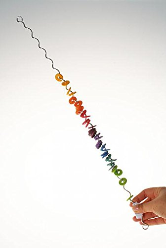 Grimm's Spirelli Toy - Enchanting Rainbow of Whirling Wooden Discs, Original