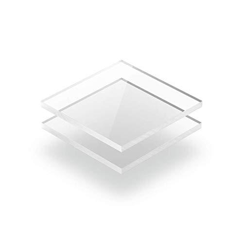 300mm x 200mm Gr/ünke/® 8 mm Acrylglas XT farblos klar Zuschnitt Platte Acryl