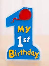 My 1st Birthday Candle for First Birthday (Blue)