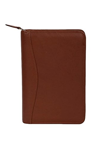 Scully Western Organizer Leather Zip Weekly Planner Pen Tobacco 5045Z-45 - Scully Leather Zip Weekly Planner