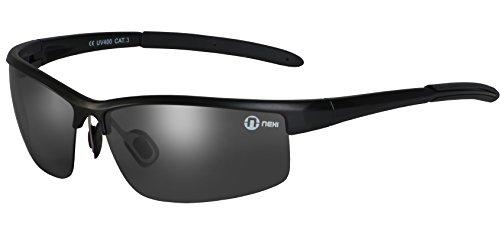 Nexi S20BP Cobra Sonnenbrille ideal als Sportbrille oder Fahrradbrille für Herren und Damen mit Polarisation