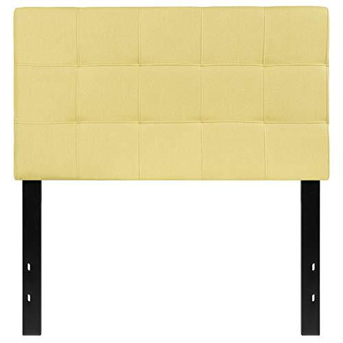 Flash Furniture Bedford Tufted Upholstered Twin Size Headboard in Green Fabric - Green Twin Headboard
