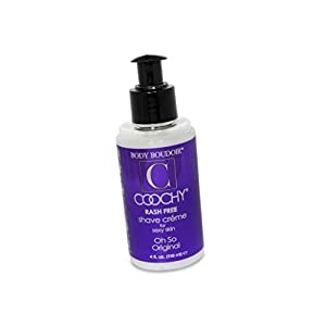 Coochy Water Based Shave Cream Skin Protection OH SO ORIGINAL (Safe for All Body Parts Including Face and Intimate Areas) - Size 4 Oz